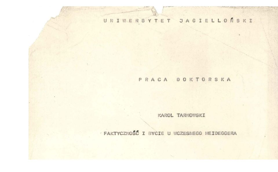 Zapomniany doktorat Karola Tarnowskiego